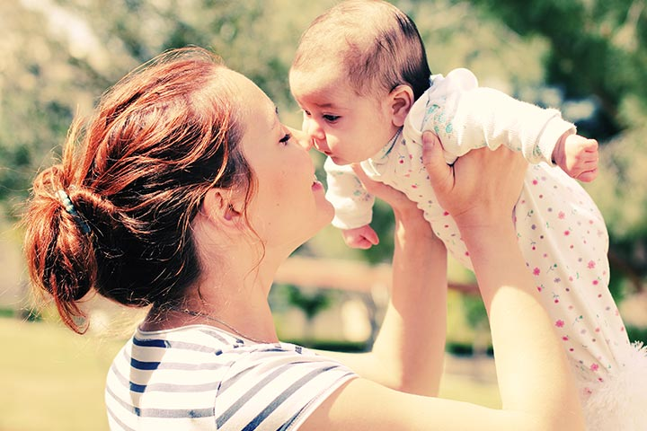 Mother-And-Baby-In-The-Outdoors